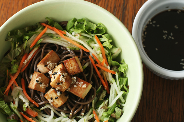Soba Salad with Japanese Sesame Soy Dressing