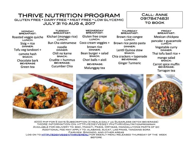 July 30 Reg Thrive